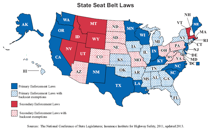 state-seatbelt-laws-map