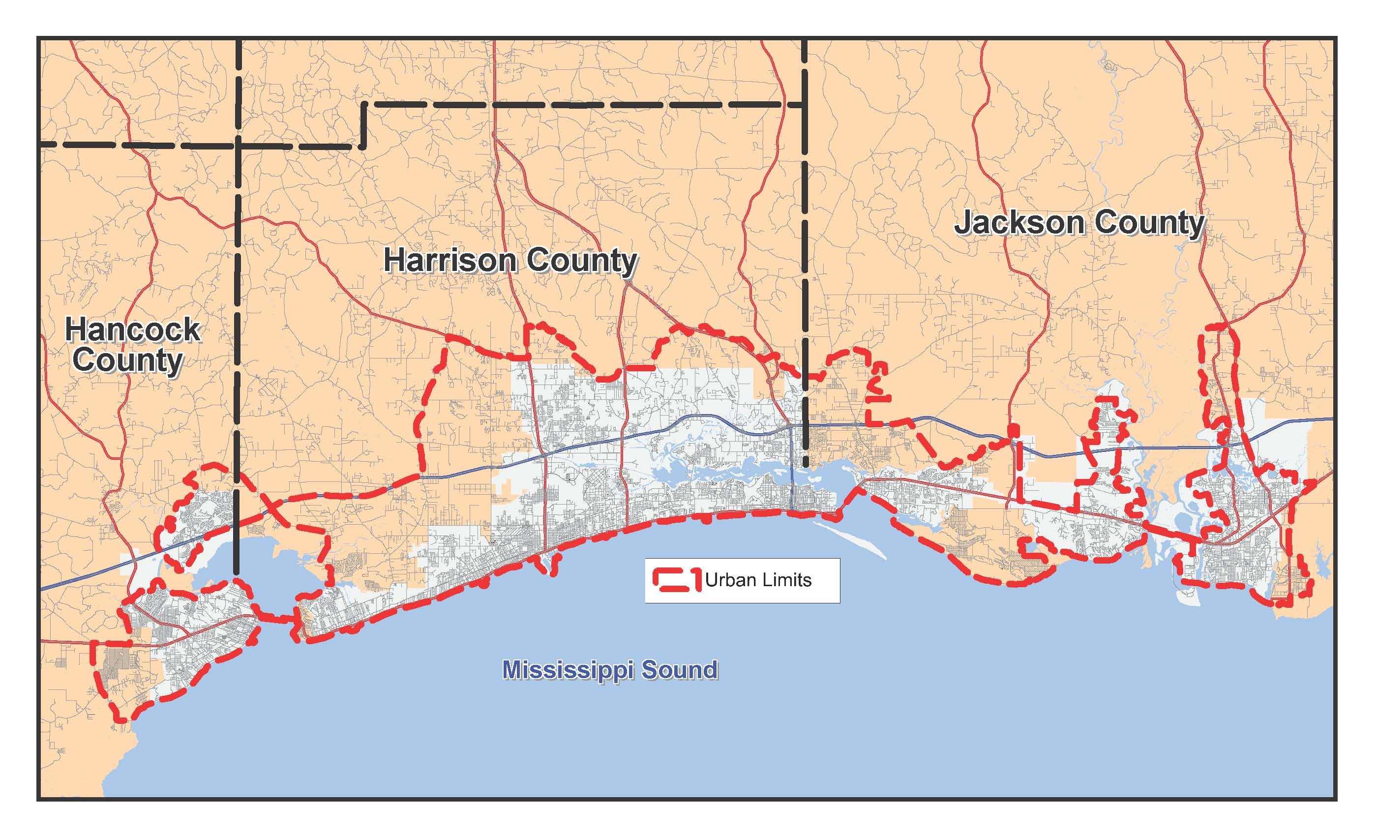 2015 Urbanized Area Map