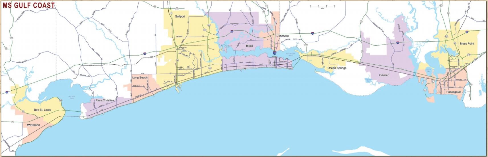 Rail Map MS Gulf Coast