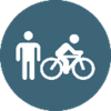 Bicycle and Pedestrian Icon